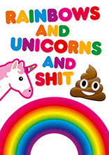 Rainbows and Unicorns Gay Birthday Card