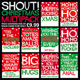 Shout! Christmas Funny Card Multipack