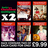 Smile It's Christmas Multipack 5 Designs x 2 Cards