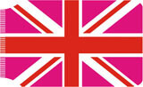 Union Jack Pink Travel Wallet Funny
