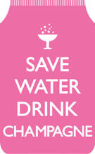 Save Water Drink Champagne Travel Wallet Funny