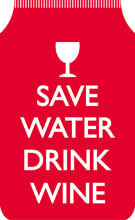 Save Water Drink Wine Travel Wallet Funny